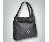 Handtasche mit seitlichen Reißverschlüssen