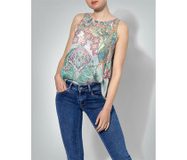 T-Shirt Top mit Allover-Muster