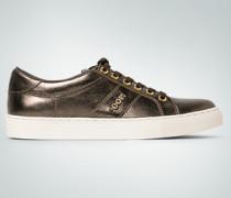 Schuhe Sneakers im Metallic-Look