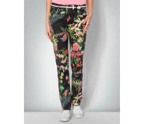 Golf-Jeans mit floralem Print