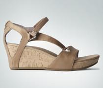 Schuhe Sandalette im Metallic Look