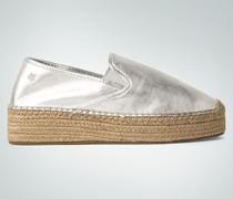 Schuhe Espadrilles im Metallic-Look