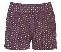 Nachtwäsche Shorts mit breitem Bund und Bundfalte