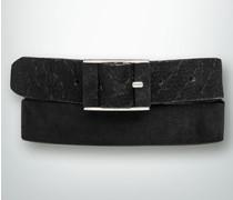 Gürtel Veloursleder-Gürtel mit Logo-Prägung
