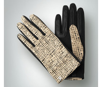 Handschuh mit modernem Lochmuster