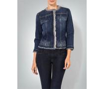 Jeansjacke mit Schmucksteinen