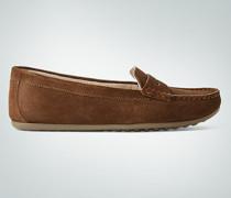 Schuhe Mokassin aus Veloursleder