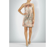 Kleid aus Seiden-Stretch mit floralem Print