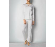 Nachtwäsche Pyjama mit Rundhals-Ausschnitt und Cut-Out