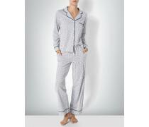 Nachtwäsche Pyjama mit Logoprint