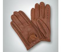Lederhandschuhe mit geflochtenen Details