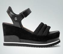 Schuhe Wedges im Material-Mix
