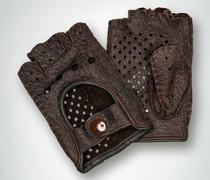 Autohandschuh ohne Finger aus Hirschleder