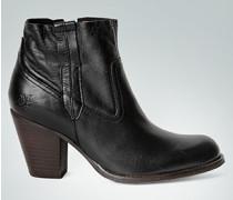 Schuhe Stiefelette aus Glattleder