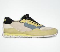 Schuhe Sneaker Im Leder-Textil-Mix