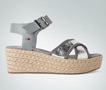 Schuhe Wedges mit Bastsohle