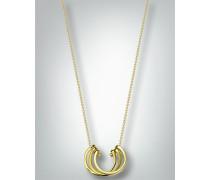 Schmuck Halskette mit drei versetzt angeordneten Halbkreisen