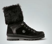 Schuhe Stiefelette mit Fellstulpe