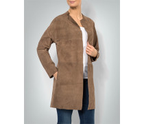 Mantel aus Ziegenvelours