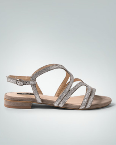 Schuhe Riemchen-Sandalen in Glitzer-Optik