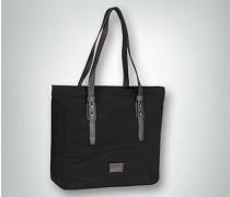 Tasche aus Textil mit Lederhenkeln