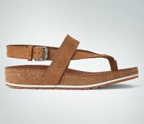 Schuhe Zehensandalen aus Nubukleder