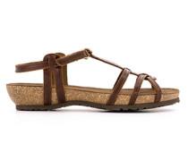 Schuhe Riemensandalen mit Korkabsatz