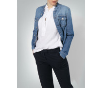Jeansjacke mit Stehkragen