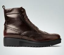 Schuhe Schnürstiefeletten mit Keilabsatz