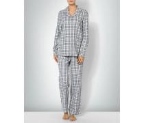 Nachtwäsche Pyjama aus Baumwoll-Flanell