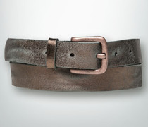 Gürtel Ledergürtel im metallischen Vintage-Look