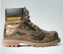 Schuhe Stiefelette mit Metallic-Beschichtung