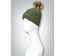 Mütze mit Kunstfell-Bommel