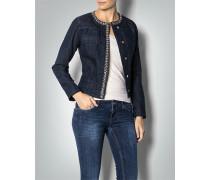 Jeansjacke mit Zierkette