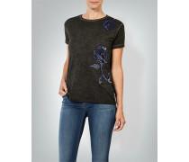 T-Shirt mit floraler Applikation