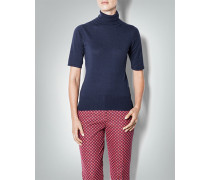 Kurzarm-Pullover in feiner Strick-Optik