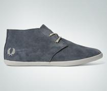 Schuhe Schnür-Bootie aus Veloursleder