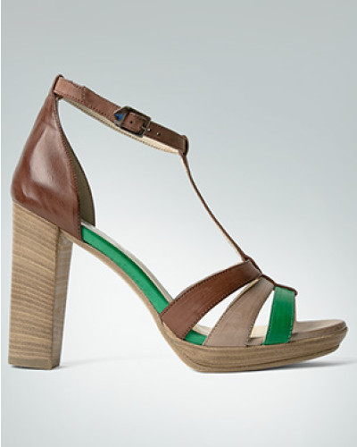 Schuhe Plateau-Sandalette mit hohem Blockabsatz