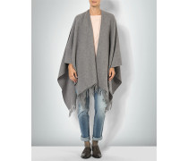 Pullover Poncho aus Wolle