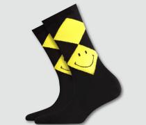 Socken Socken mit Smiley