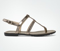 Schuhe Zehensandale im Metallic-Look