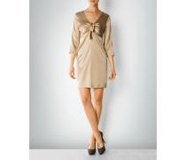 Kleid aus Seide mit Schleifendetail