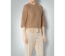 Pullover mit raffiniertem Goldglanz-Effekt