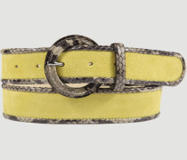 Gürtel Gürtel, Velours, yellow
