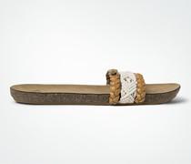 Schuhe Sandale in Flecht- und Häkelband-Optik
