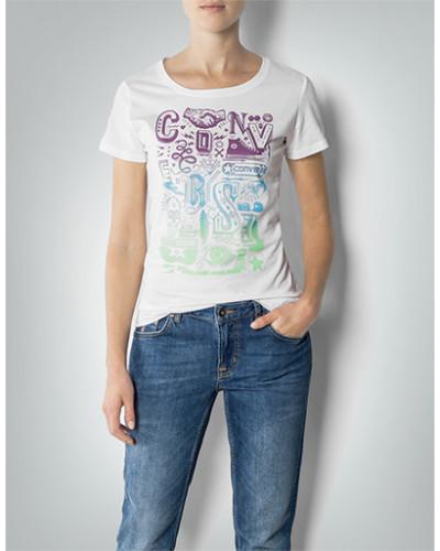 T-Shirt mit Label-Frontprint