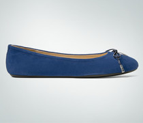 Schuhe Ballerina aus Veloursleder