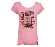 T-Shirt mit raffiniertem Rückenausschnitt