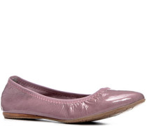 Schuhe Ballerina, Lackleder