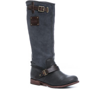 Schuhe Stiefel, Nubuk-Nappa, grau